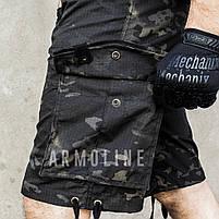 """Карго шорты с ремнём """"LEGION"""" Black Multicam, фото 3"""