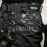 """Карго шорты с ремнём """"LEGION"""" Black Multicam, фото 4"""