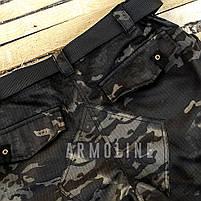 """Карго шорты с ремнём """"LEGION"""" Black Multicam, фото 5"""