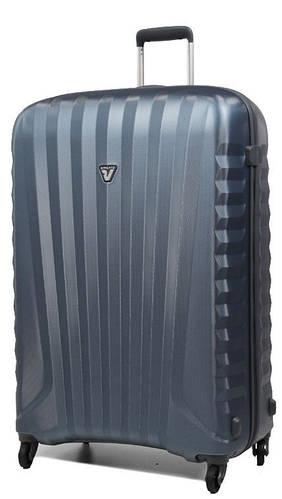 Чемодан-тележка пластиковый дорожный 100 л. Roncato UNO ZIP SPOT 5081/02/86 кобальт(темно-синий)