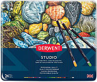 Набор цветных карандашей Studio в метал.короб. 24 цвета, Derwent