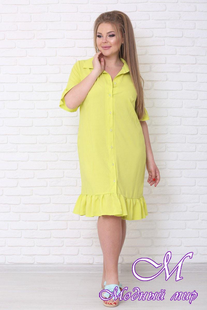 Летнее платье рубашка больших размеров (р. 42-90) арт. Вариант