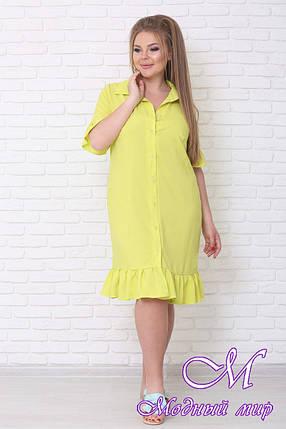 Летнее платье рубашка больших размеров (р. 42-90) арт. Вариант, фото 2