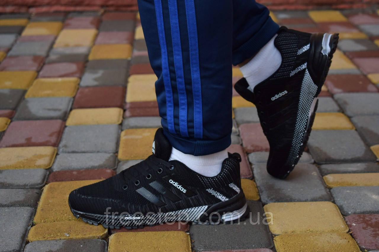 Чоловічі кросівки Marathon чорні з білим