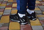 Чоловічі кросівки Marathon чорні з білим, фото 3