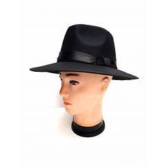 Шляпа Мужская бархатная (черная)