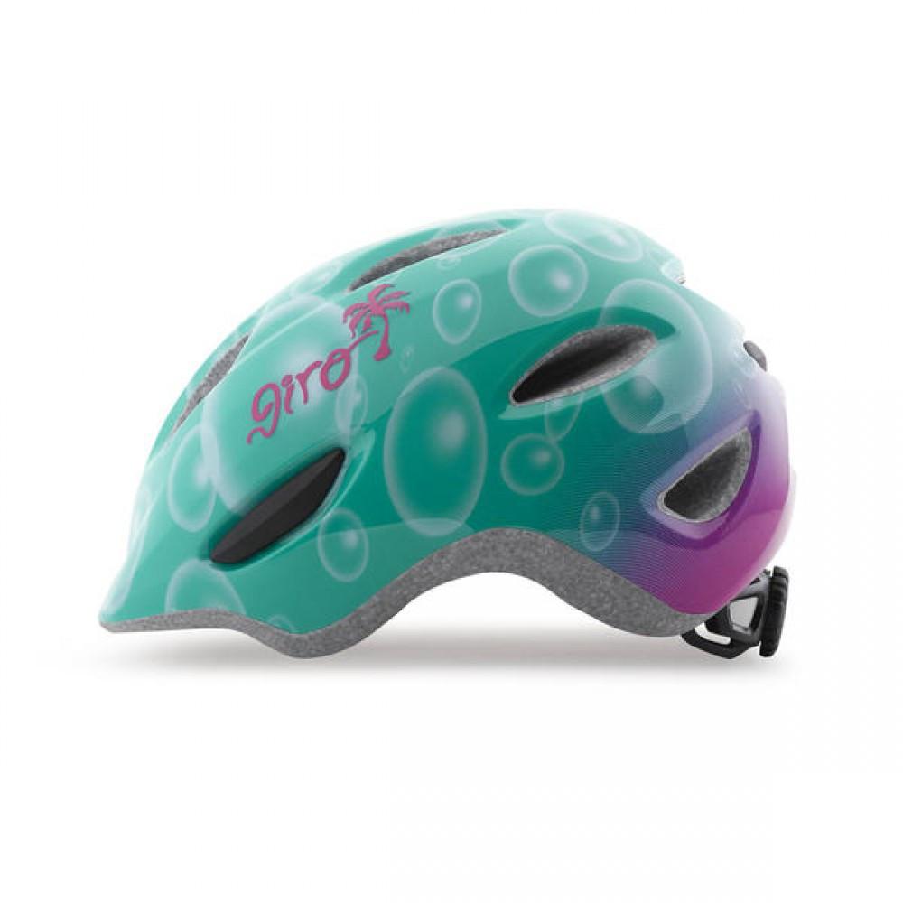 Велошлем детский Giro Scamp бирюзовый/маджента Bubbles, S (49-53) (GT)