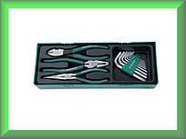 Комплект шарнирно-губцевого инструмента: бокорезы, пассатижи, утконосы, 10 предметов , P018SP1