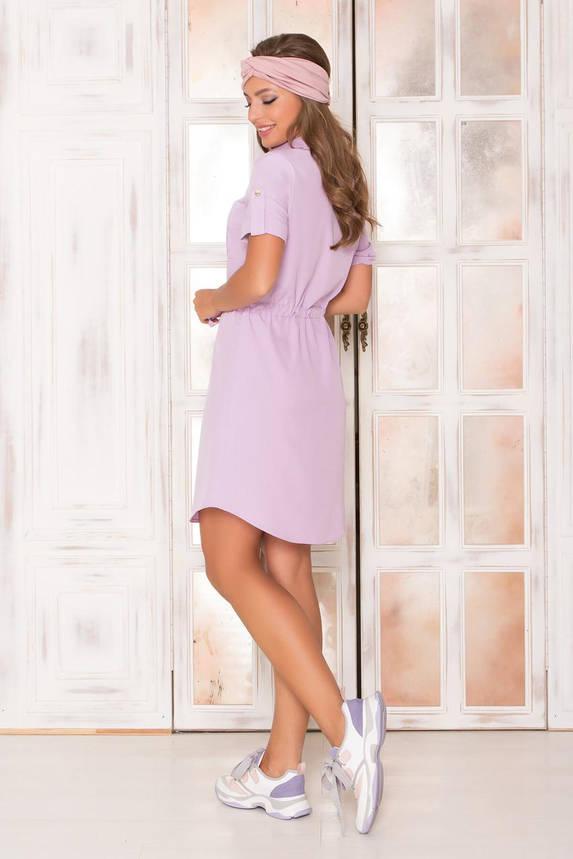 Летнее платье рубашка короткое сиреневое, фото 2