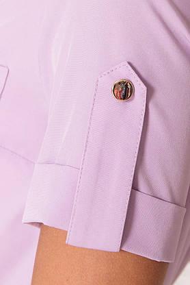 Летнее платье рубашка короткое сиреневое, фото 3