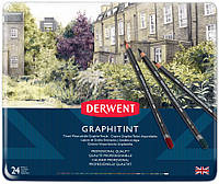 Набор акварельных графитных карандашей Graphitint, 24 шт, в метал. короб, Derwent