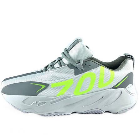 Кроссовки мужские Adidas Yeezy Boost 700 (серые) Top replic, фото 2