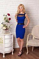Элегантное женское платье с коротким рукавом 42р