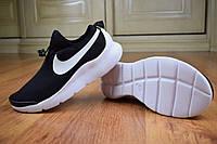 Женские кроссовки в стиле Nike Air Max Tavas чёрные с белым, фото 1
