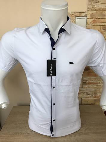 Однотонная рубашка короткий рукав Paul Smith, фото 2