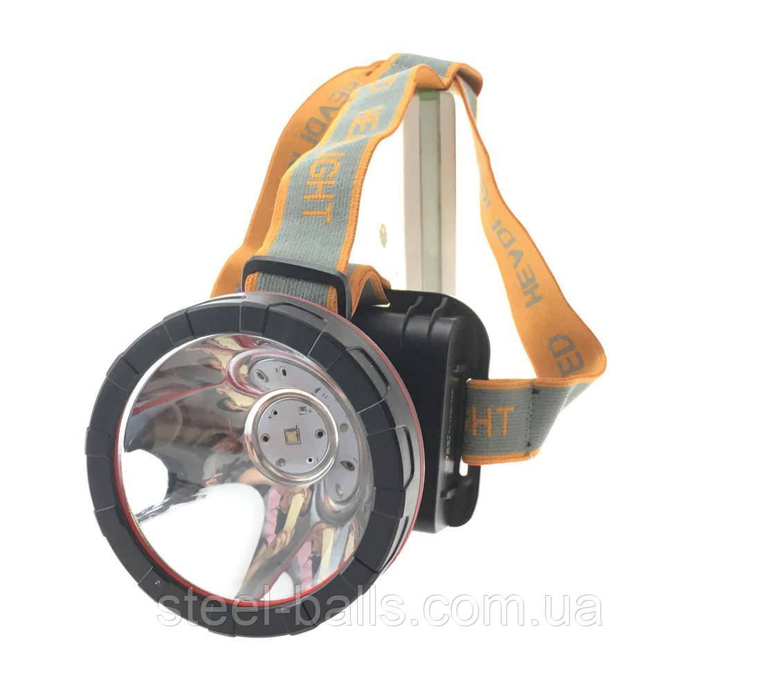 Налобный аккумуляторный фонарь