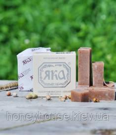 Натуральное твердое мыло Пшеничные отруби, какао и молоко, ТМ ЯКА