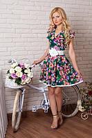 Нарядное женское платье в цветочный принт 52