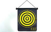 Мишень для игры в дартс магнитная двусторонняя  Baili (р-р 37x44,5см, в комплекте 6 дротиков)