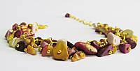 Браслет. Натуральные камни. Яшма Мукаит. Кристалл, фото 1