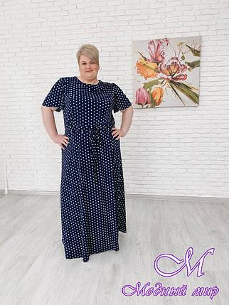 Летнее платье в горошек большого размера (р. 42-90) арт. Елена, фото 2