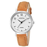 Женские наручные часы Geneva с арабскими цифрами на белом циферблате   88365