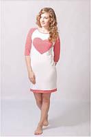 Женская ночная рубашка с длинным рукавом WIKTORIA 01