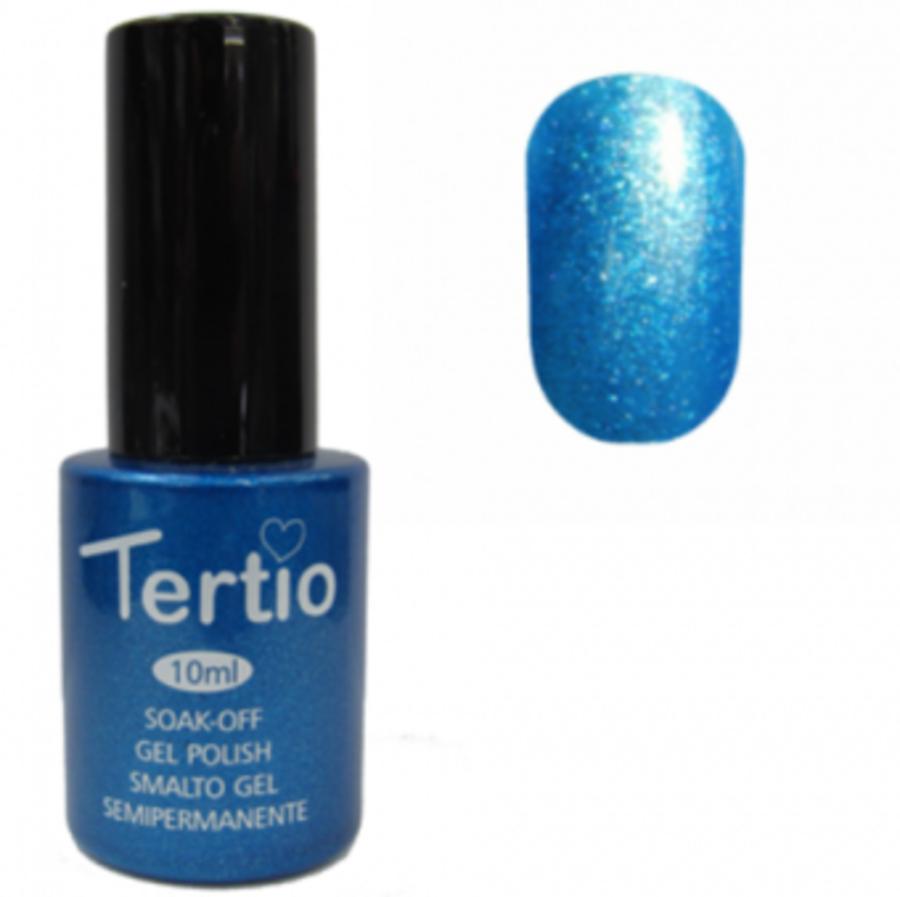 Гель-лак Tertio № 076 (небесно-голубой с микроблеском)