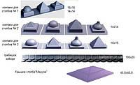 Формы крышек на столбы Будфома, фото 1
