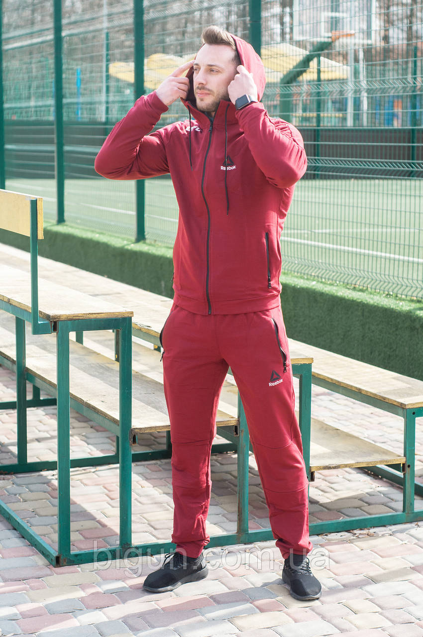 fabf8049 Мужской спортивный костюм Reebok UFC (костюм рибок юфс, бордовый) -