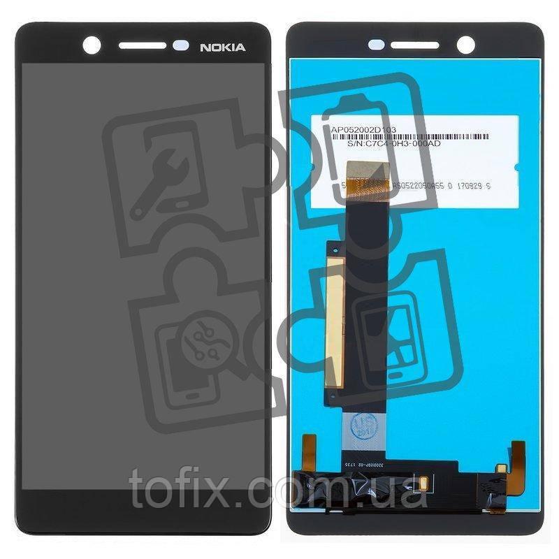 Дисплейный модуль (дисплей и сенсор) для Nokia 7 Dual Sim TA-1041, черный, оригинал
