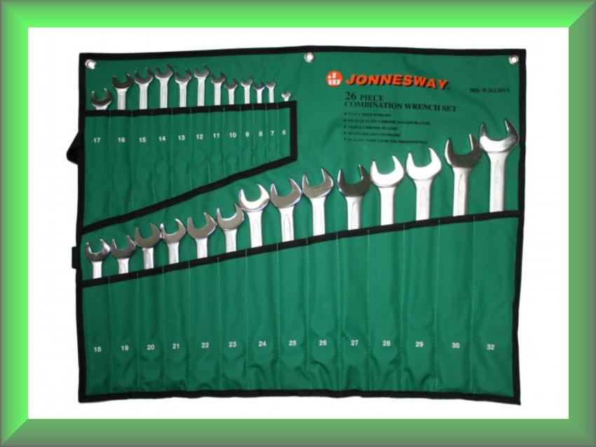 Набор ключей комбинированных 6-32мм, 26 предметов, тканевый чехол, W26126SA