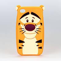 Чехол силиконовый 3D тигра оранжевый Disney для Iphone 4/4S