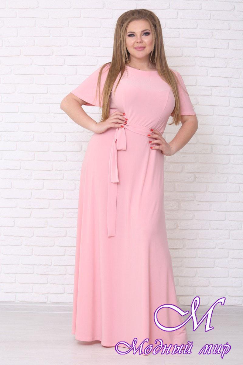 Нарядное летнее платье в пол больших размеров (р. 42-90) арт. Елена