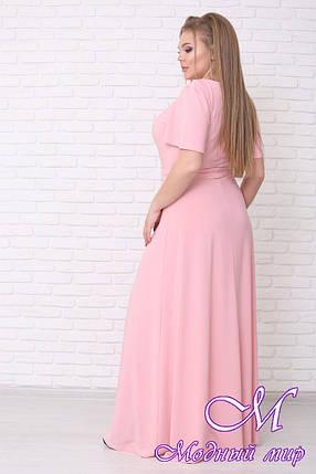 Нарядное летнее платье в пол больших размеров (р. 42-90) арт. Елена, фото 2