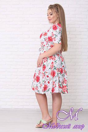Яркое летнее платье большого размера (р. 42-90) арт. Елена короткое, фото 2