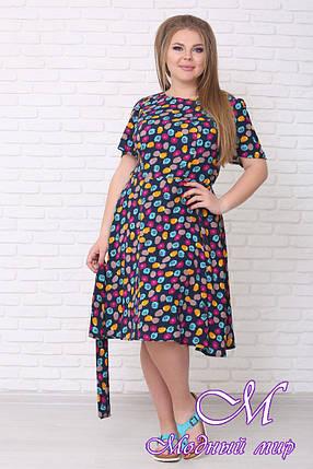 Легкое летнее платье большого размера (р. 42-90) арт. Елена короткое, фото 2