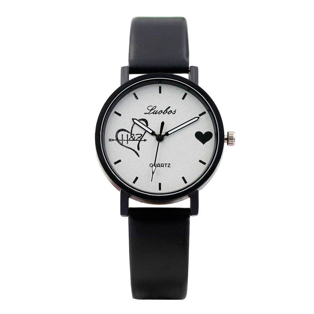 Молодежные женские наручные часы с сердцем   циферблат с метками 35мм   2144