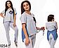 Женский спортивный костюм штаны с футболкой (хаки) 829257, фото 4