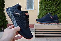 Мужские кроссовки в стиле Adidas Cloudfoam чёрные с оранжевым