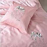 Постельное белье cатин евро Винтаж Слон розовый, фото 3