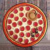 Круглое пляжное махровое полотенце 150 см Pizza