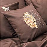 Постельное белье cатин евро Винтаж Лев, фото 4