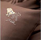 Постельное белье cатин евро Винтаж Лев, фото 5
