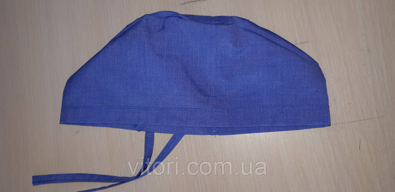 Женская медицинская шапочка х/б с завязкой