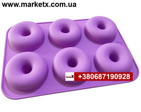 Пищевая силиконовая форма круг, фото 2