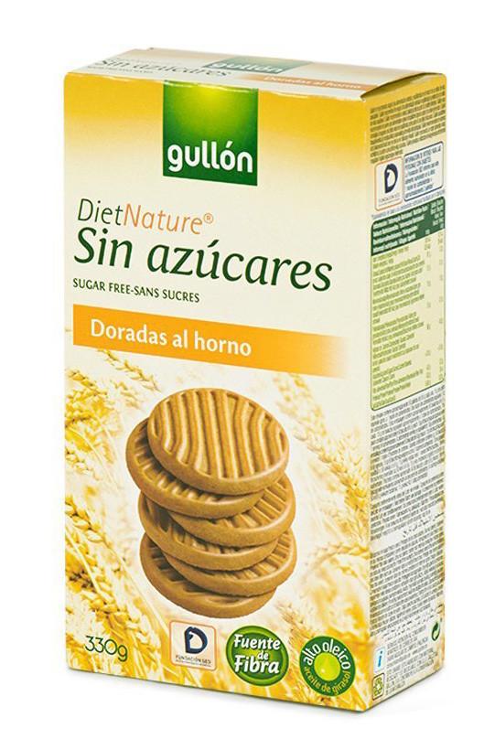 Печиво GULLON без цукру Diet Nature Dorada, 330г, 15шт/ящ
