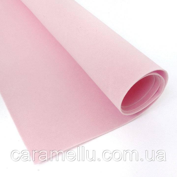 Фоамиран Зефірний Світло-рожевий, 1мм, 50×50. №47