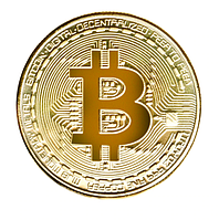 Монета Биткоин Bitcoin подарочная