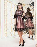 Стильное женское платье! Цвет: пудра, арт 7923